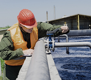 Clarifying industrial wastewater
